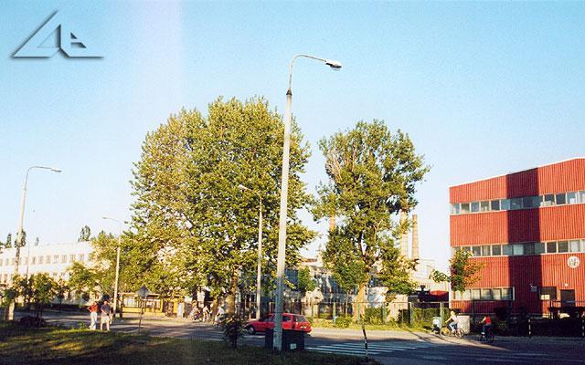 A to inne ujęcie nowszego budynku huty przy ulicy Wileńskiej.