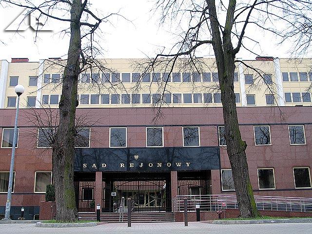 Wejście do budynku Sądu Rejonowego