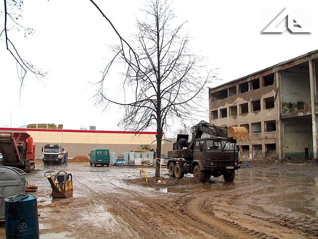 Okolice starej huty szkła - budowa nowego centrum handlowego