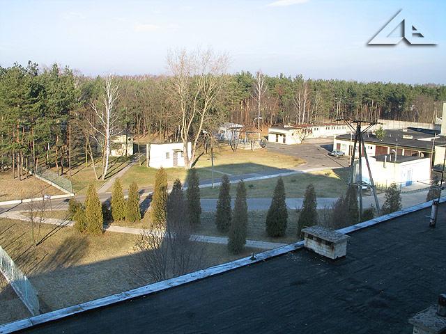 Widok ze szpitala wołomińskiego w kierunku północno-wschodnim.
