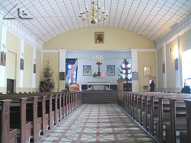 Wnętrze kaplicy przy parafii pw. M.B. Częstochowskiej.