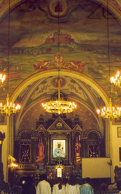 Nabożeństwo październikowe 2001 w kościele M.B. Częstochowskiej.
