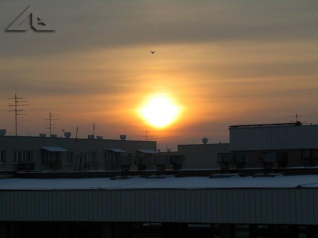 Tak wyglądał wschód słońca w Wołominie w mroźny styczniowy poranek.