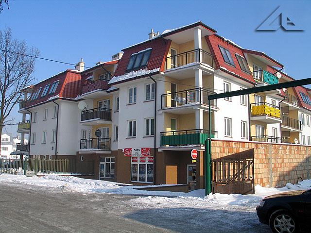 Nowe bloki mieszkalne przy ulicy Sosnowej.