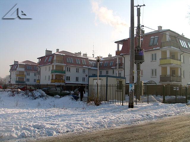 Nowe bloki mieszkalne przy ulicy Sosnowej. Widok w kierunku południowo-wschodnim.