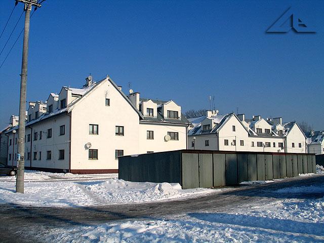Wschodnia część ulicy Sosnowej.