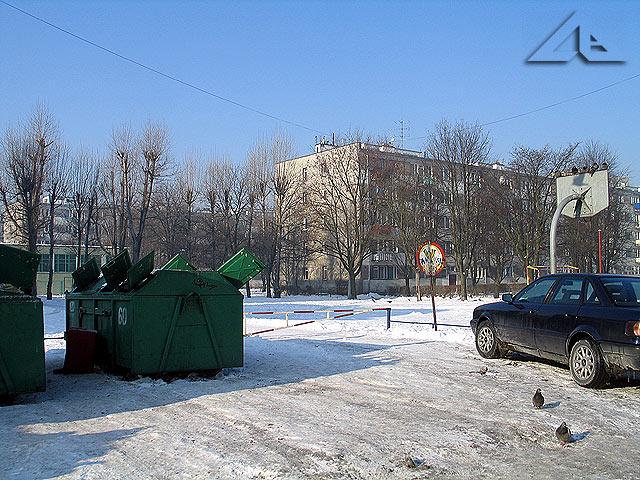 """Osiedle """"Lipińska"""" ze strony ulicy Prądzyńskiego."""