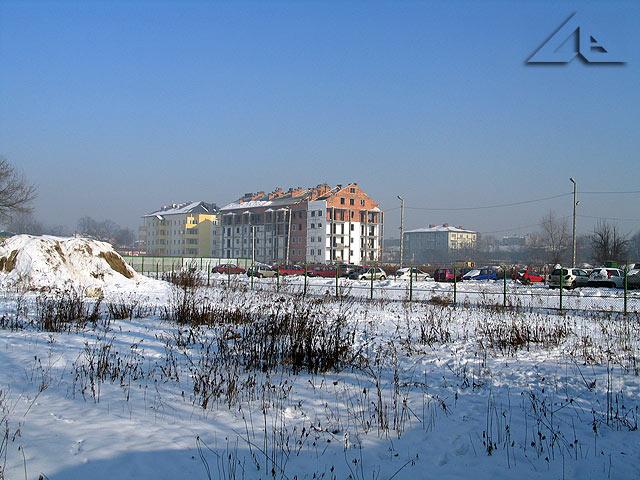 Widok z ulicy Prądzyńskiego w kierunku północno-wschodnim.