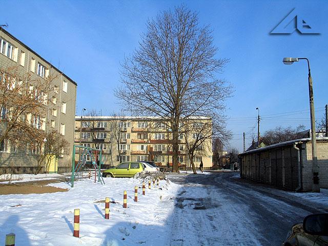 Bloki osiedla Słoneczna przy Szosie Jadowskiej.