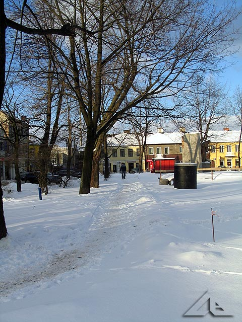 Spóźniona zima w Wołominie - plac 3 maja