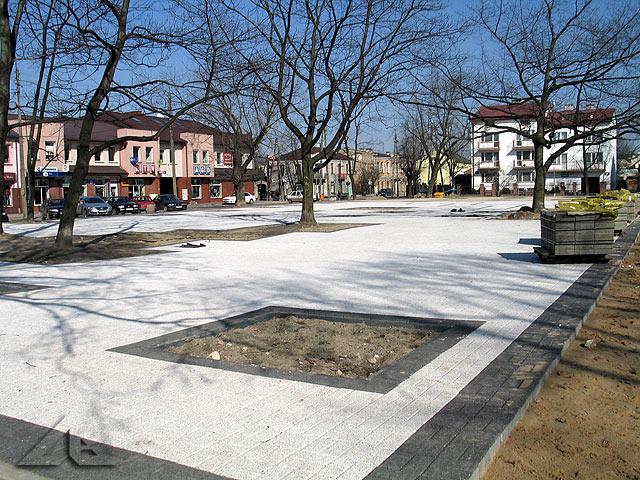 Modernizacja Placu 3 maja - widok w kierunku północno-wschodnim.