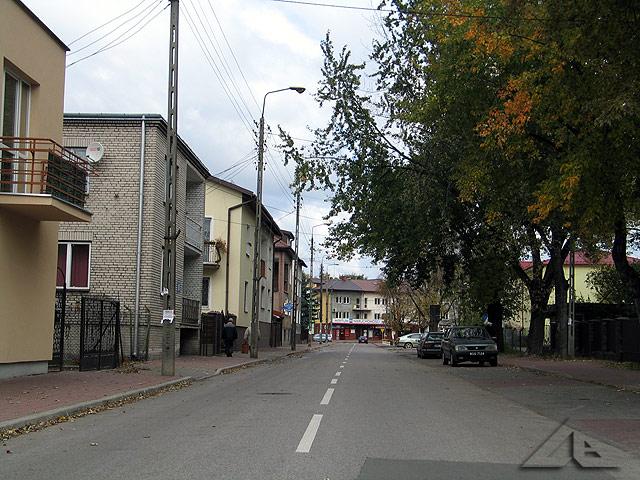 Ulica Prądzyńskiego w kierunku północnym