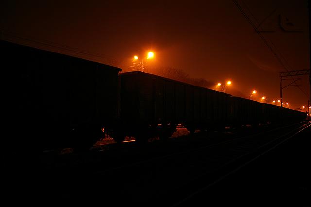 Wagony na bocznicy