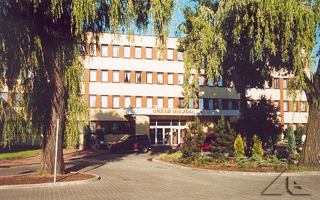 Wejście główne Urzędu Miejskiego.