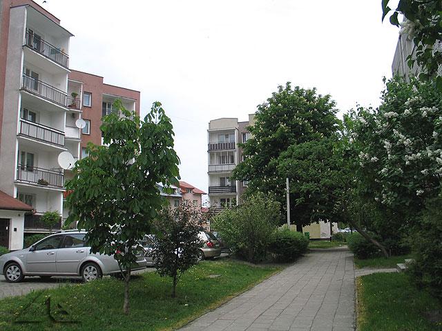 Ulica Królowej Jadwigi na osiedlu Niepodległości.<br>Widok w kierunku wschodnim.