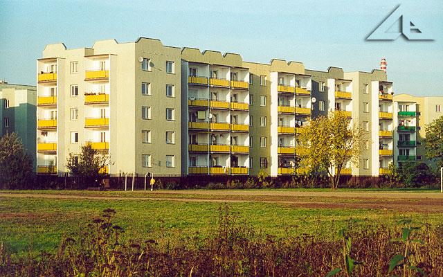 Jeden z nowych bloków przy ulicy Królowej Jadwigi na osiedlu Niepodległości.