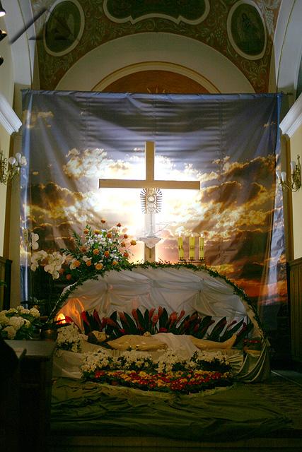 Grób Chrystusa w parafii pw. Matki Bożej Częstochowskiej