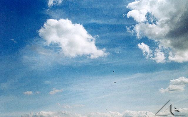Nigdzie nie ma takiego nieba jak w Wołominie nad osiedlem Niepodległości.