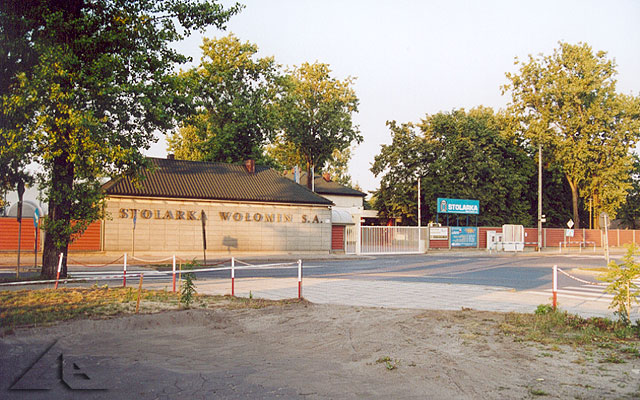 Stolarka Wołomin S.A. - brama główna.