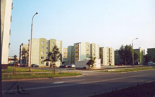 Nowe bloki na osiedlu Niepodległości. Widok od ulicy Wileńskiej