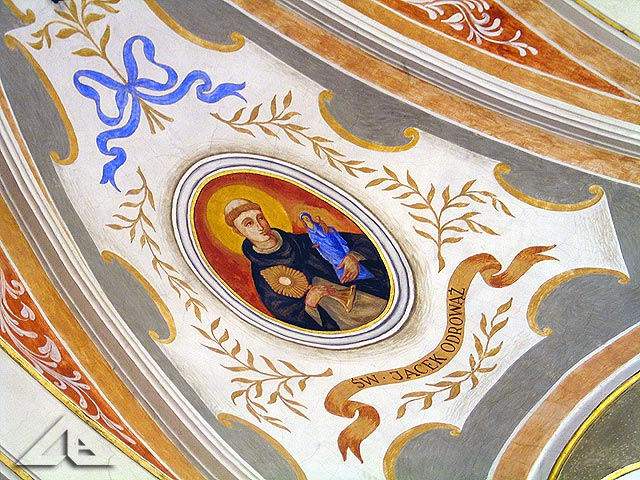 Polichromia na sklepieniu kościoła pw. Matki Boskiej Częstochowskiej